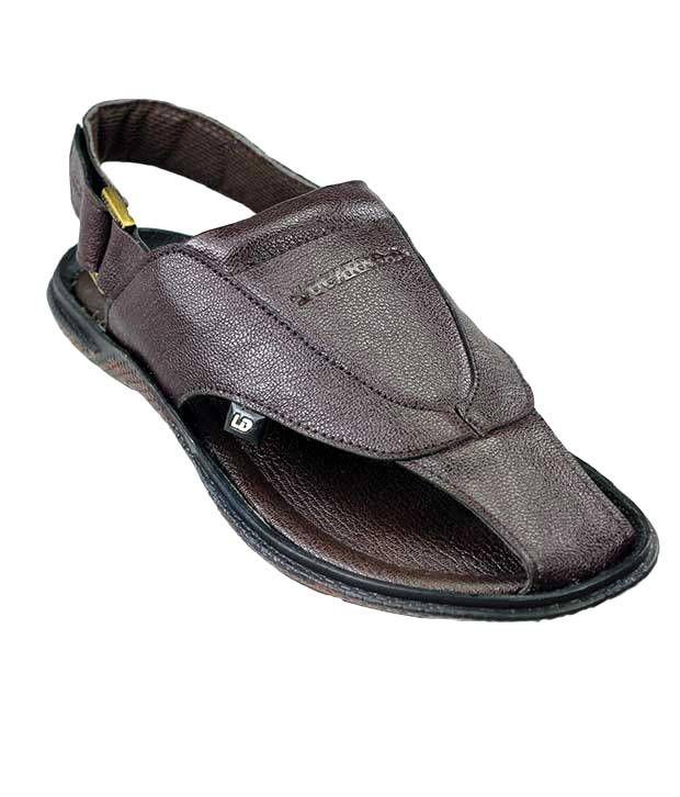 Dziner Pathani Men's Sandal Brown