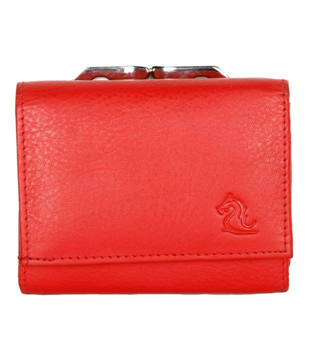 1d0c9f66e0cf Buy Kara Red Tri-Fold Ladies Wallet at Best Prices in India - Snapdeal
