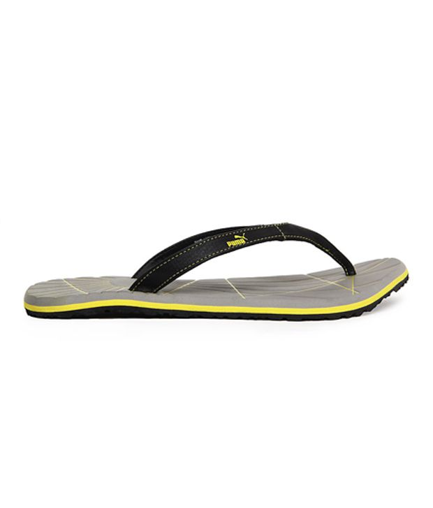 a21a9cbc3cf Puma Webster Black   Grey Causual Flip Flops Price in India- Buy ...
