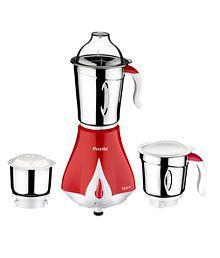 Preethi Spice MG 203 550-Watt Mixer Grinder (Cherry Red with Cream Border)