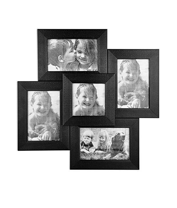 celestial black glossy photo frame collage  5 frames buy