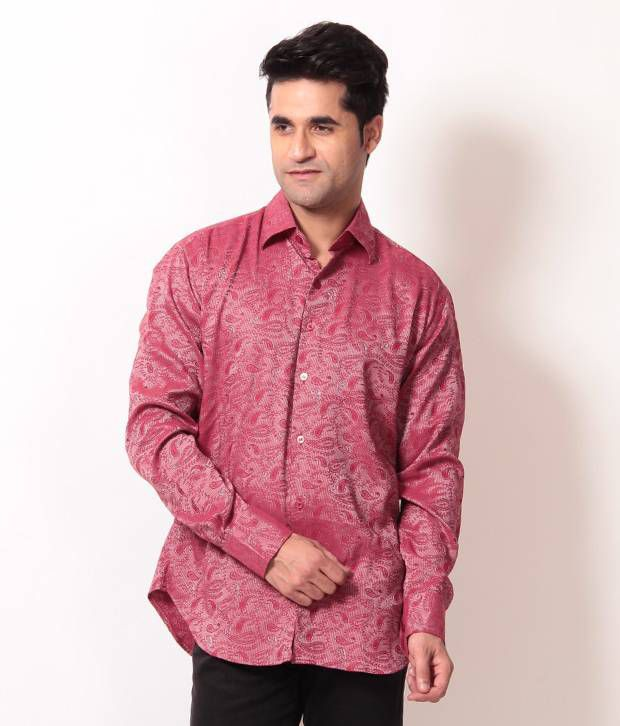 Club Avis USA Red Paisley Printed Shirt