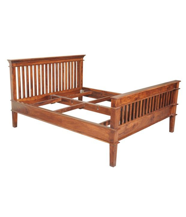 Sheesham wood classic double bed buy sheesham wood for Diwan double bed price