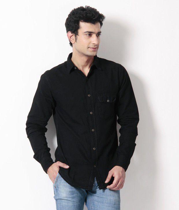 Silver streak black denim shirt buy silver streak black for Buy denim shirts online