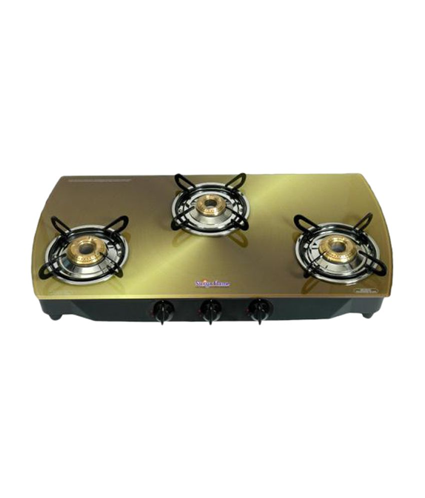 Surya-Flame-Copper-SFCP-GL-0353B-Gas-Cooktop-(3-Burner-)