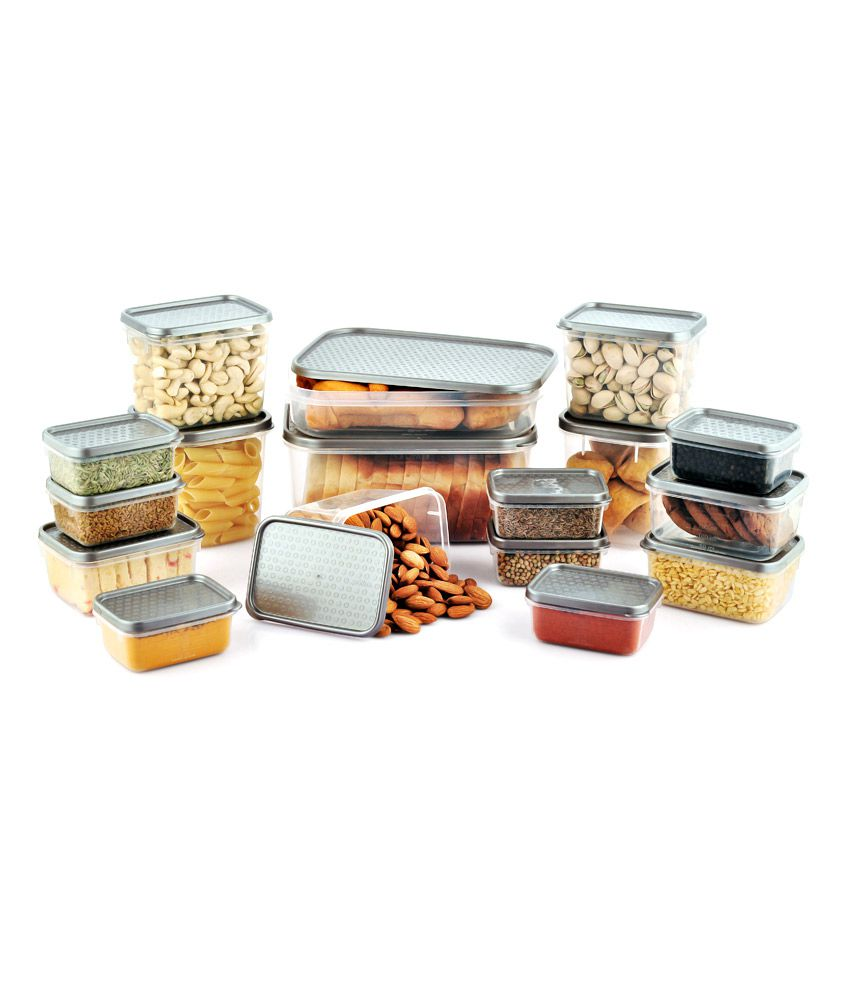 All Time Silver Storage Containers (17 Pcs)
