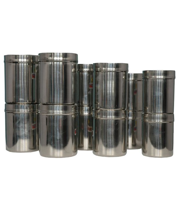 BM Stainless Steel Container Set- 12 Pcs: Buy Online at ...