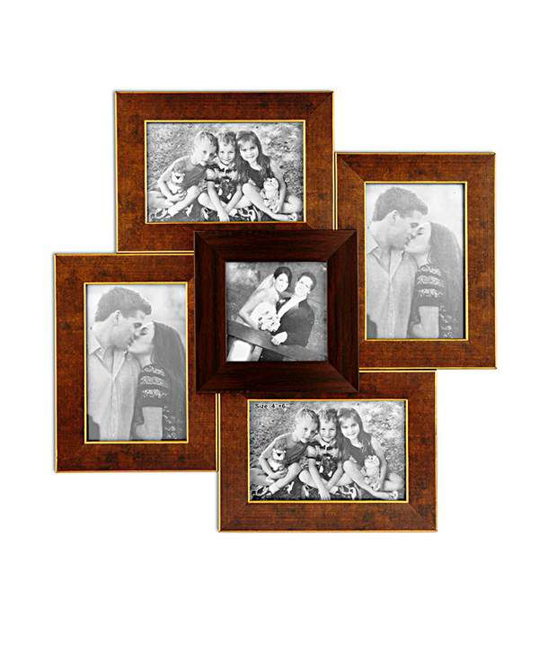 celestial brown photo frame collage 5 frames