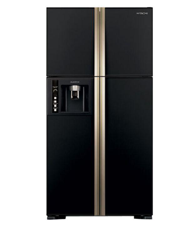Hitachi 638 Ltr R-W720FPND1X - GBK- Side By Side Refrigerator Glass Black