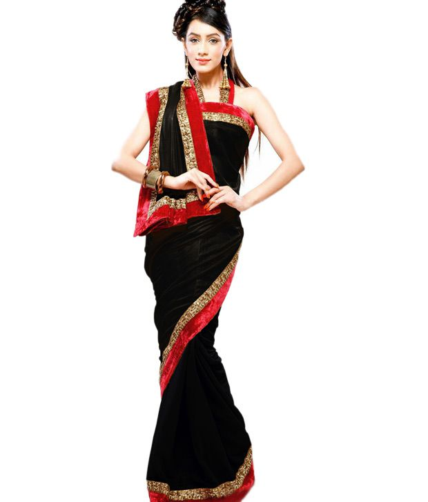 52e012803f2 Red   White and Black Designer Saree - Buy Red   White and Black Designer  Saree Online at Low Price - Snapdeal.com