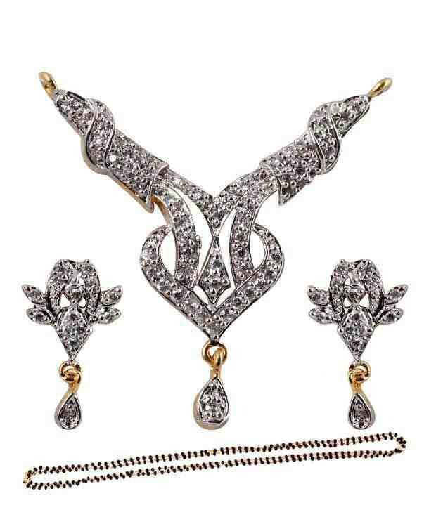 Blossomia Opulent AD Studded Mangalsutra Set