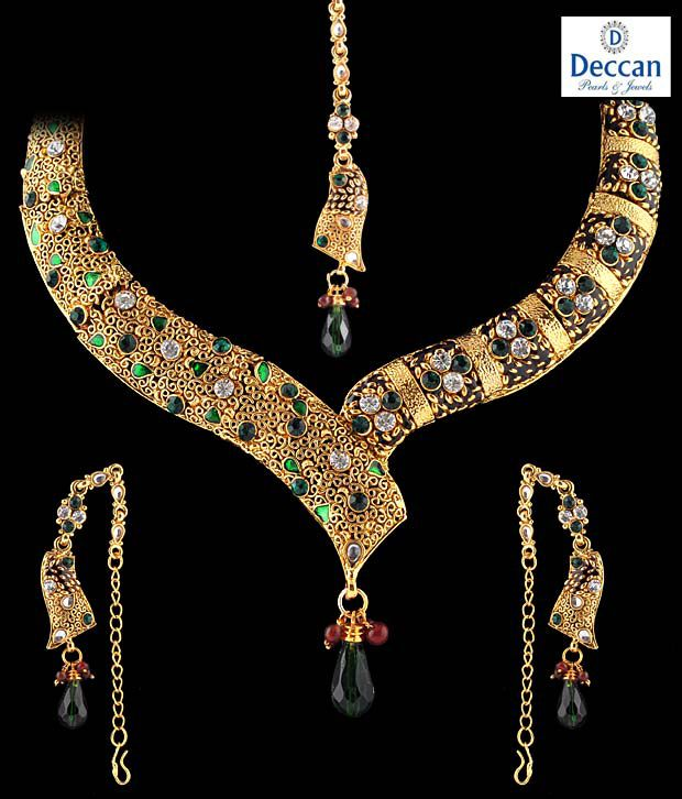 Deccan Pearls Designer Gld set