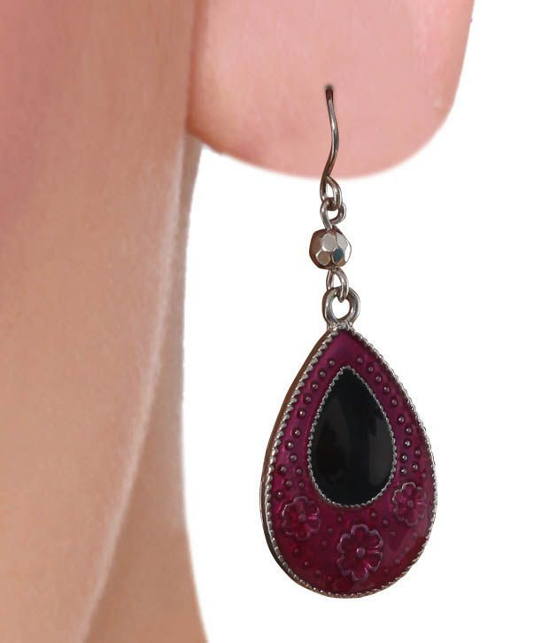 Diva Pink Pear Shaped Classic Earrings