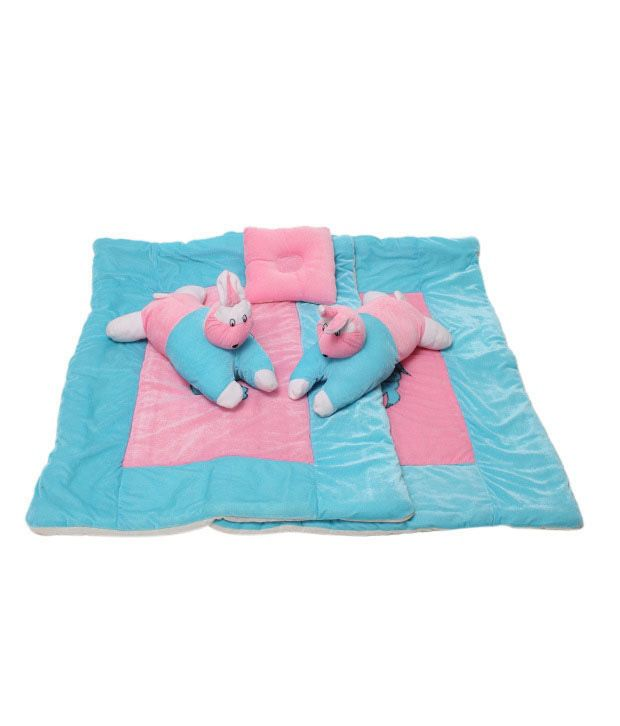 Isabelle Blue & Pink Infant Quilt 5 piece Set