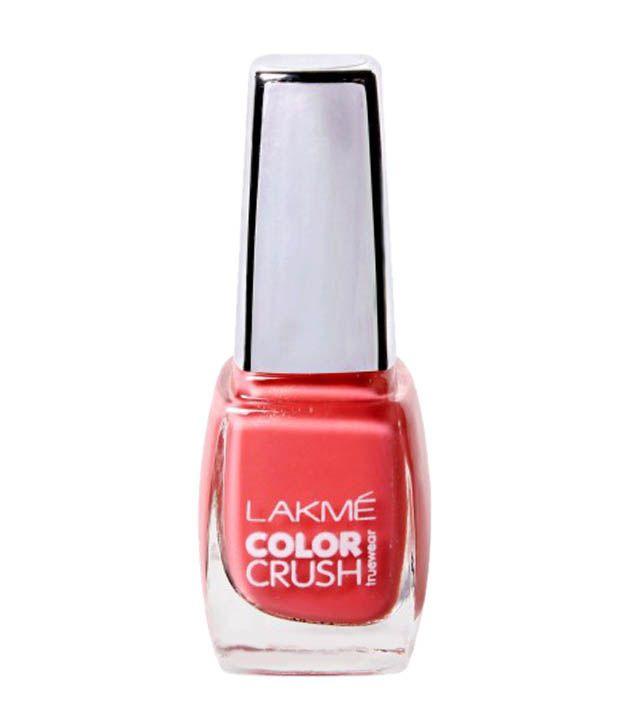 Gel Nail Polish Lakme: Lakme Color Crush True Wear 19 Nail Paint 9 Ml Pack Of 2