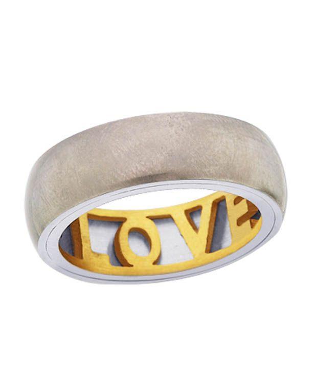 Peora Titanium Love Ring