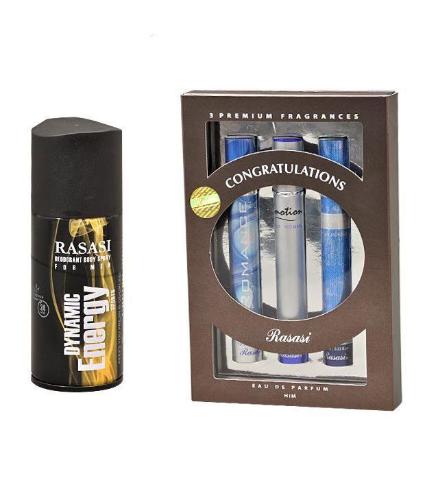 Rasasi Gift Set Royal Blue+Emotion Men+Romance Men