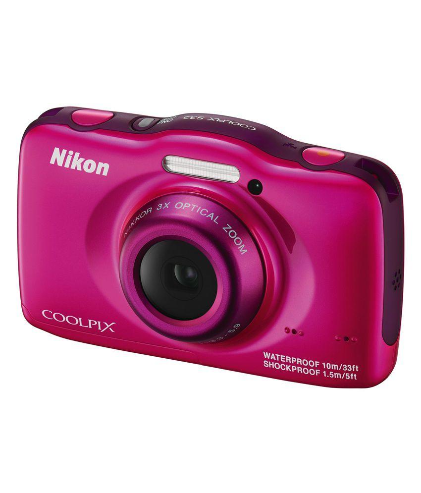 Nikon Coolpix S32 Digital Camera (Pink) Price in India