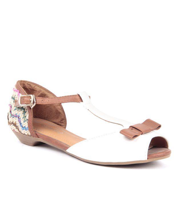 Reyna Elegant White Peep Toe Sandals