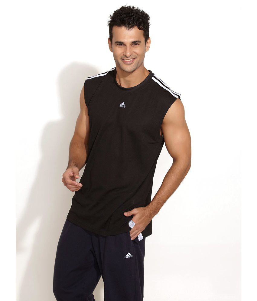 bc5158d5669044 Adidas Casual Sleeveless Basketball Black Jersey - Buy Adidas Casual  Sleeveless Basketball Black Jersey Online at Low Price in India - Snapdeal