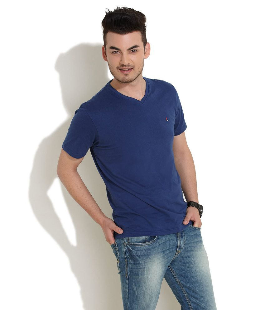 7889915b0ff Checks And Squires Cool Guy Blue T-Shirt - Buy Checks And Squires Cool Guy  Blue T-Shirt Online at Low Price - Snapdeal.com
