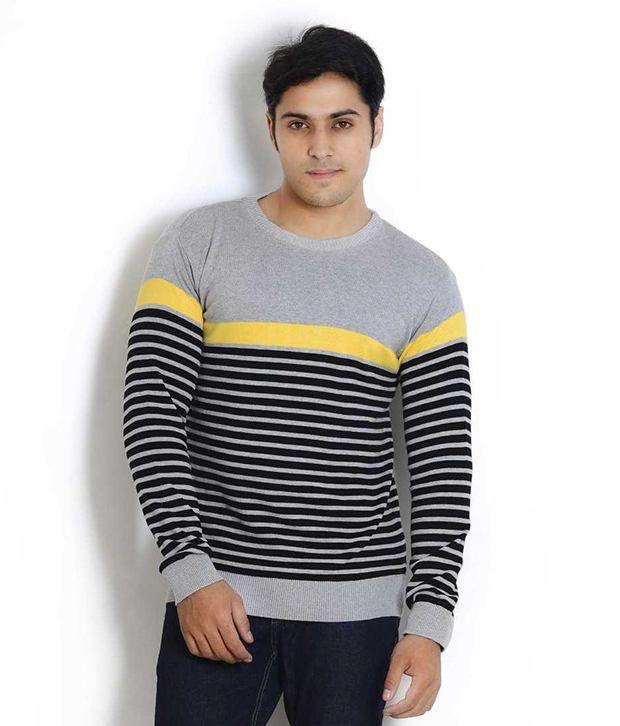 Globus Gray Full Cotton Round  T-Shirt