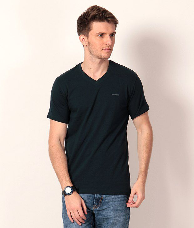 HOWZAT Green Half Cotton Round  T-Shirt