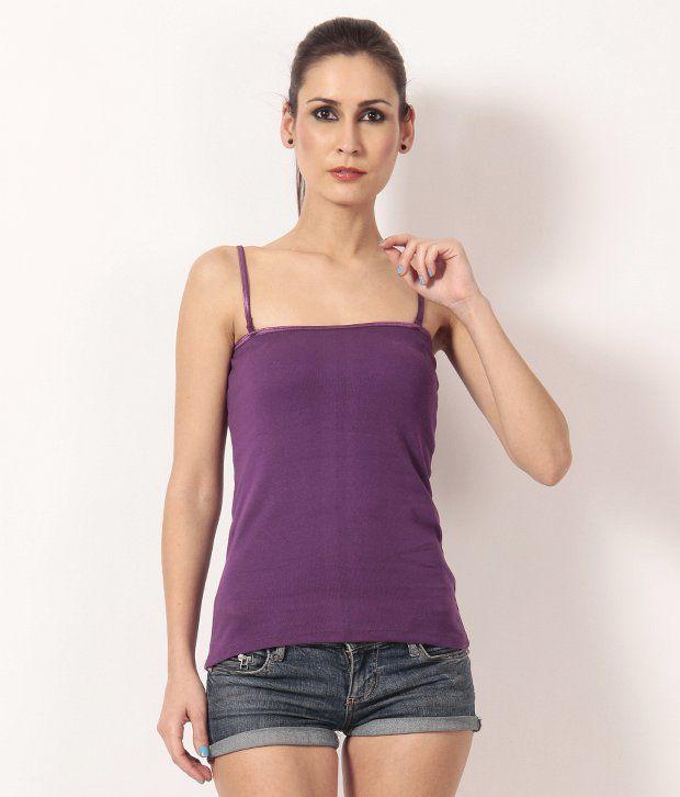 TEEMOODS Purple Camisoles
