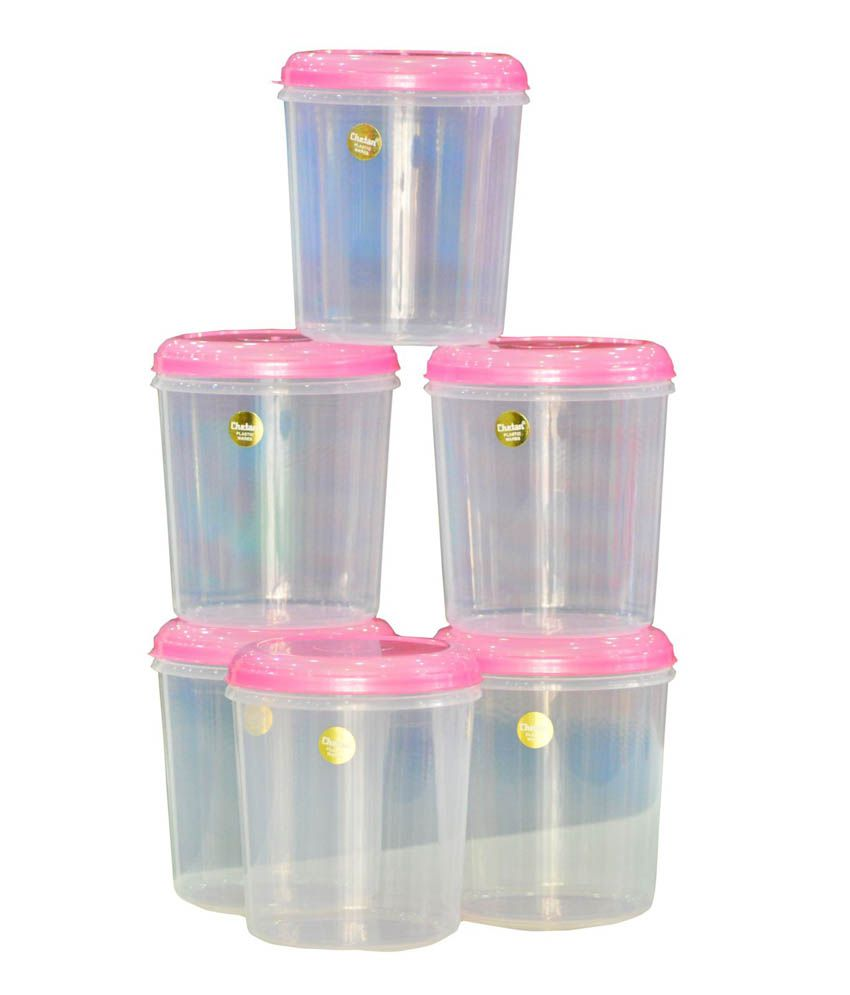 Chetan 6 pcs seal fresh 3 litres kitchen container set for Snapdeal products home kitchen decorations
