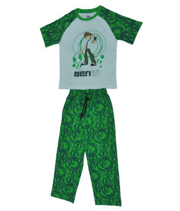 37c9c285 Ben10 Printed Green & White Color T-Shirt & Pant Set For Kids - Buy Ben10  Printed Green & White Color T-Shirt & Pant Set For Kids Online at Low Price  - ...