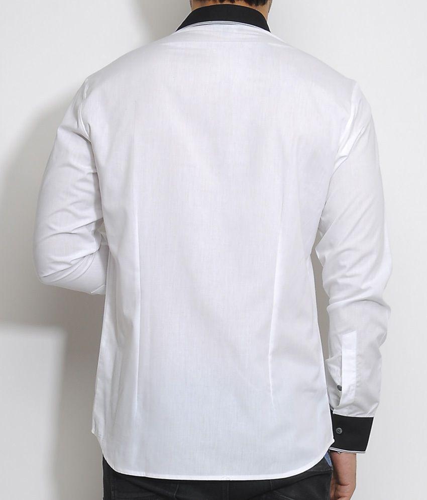White Shirt Black Collar