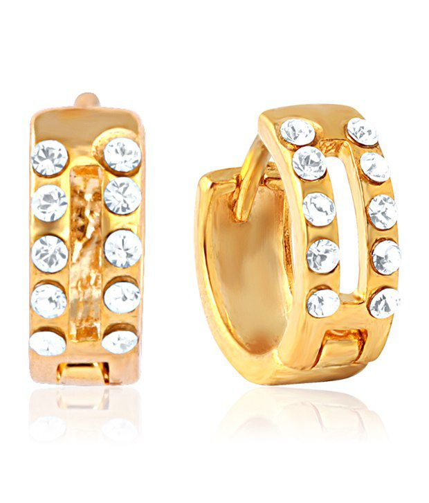 Mahi Gold Plated Fashion Quotient Earrings with Crystal for Women ER1100301G