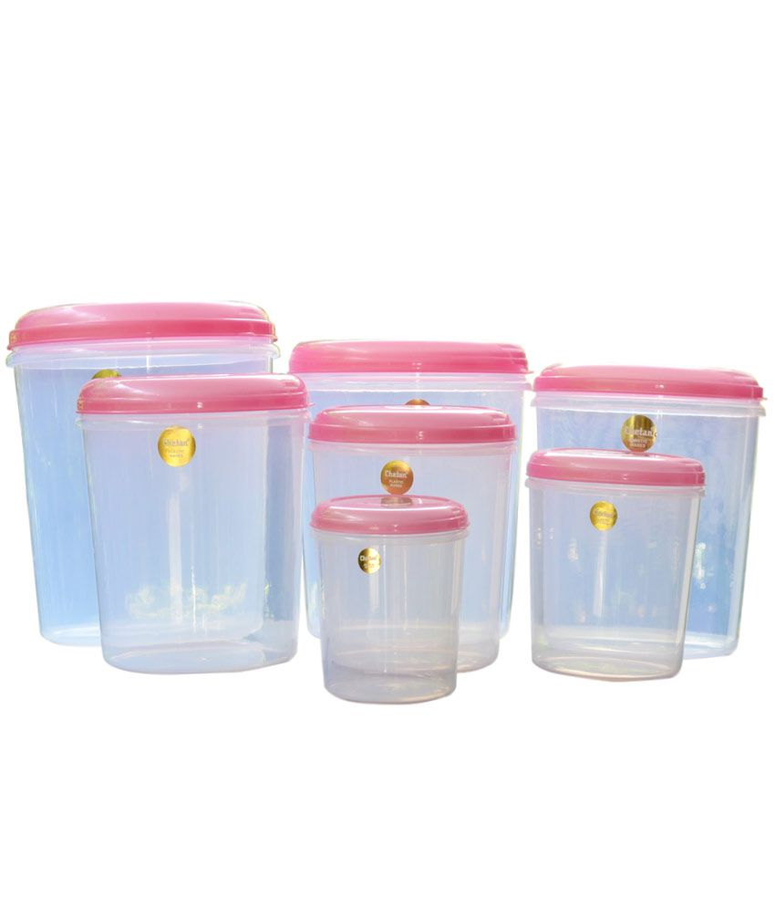 Chetan Plastic Kitchen Storage Airtight Containers Pc Set