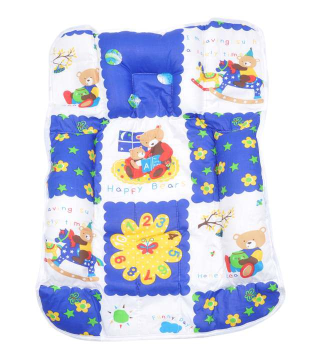 U & ME SLEEPING BED WITH ATTACH PILLOW BLUE WHITE