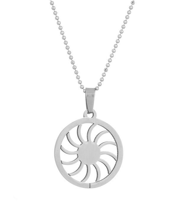 Voylla Pendant With Chain with Pinwheel Design
