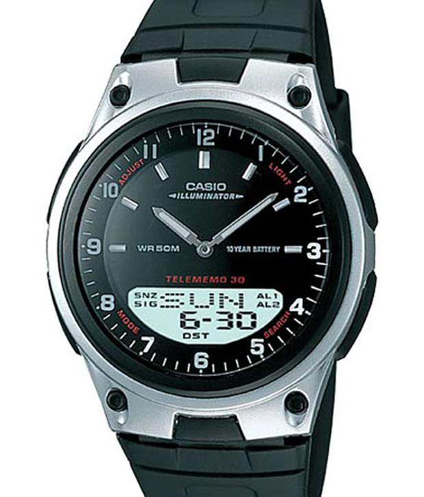 701dc1acf4a Casio AD84 Dual Display Black Watch - Buy Casio AD84 Dual Display Black  Watch Online at Best Prices in India on Snapdeal