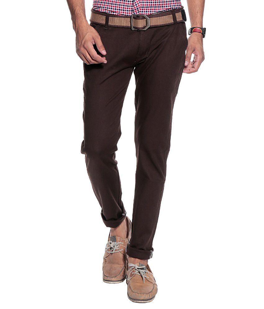 Coaster Brown Slim Semi Formals Chinos