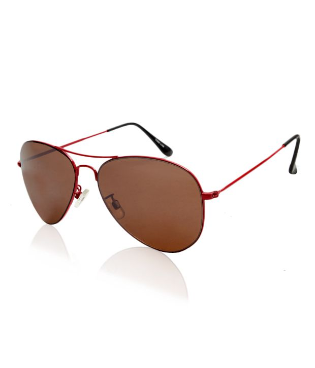 Color Line Exclusive Red & Brown Aviator