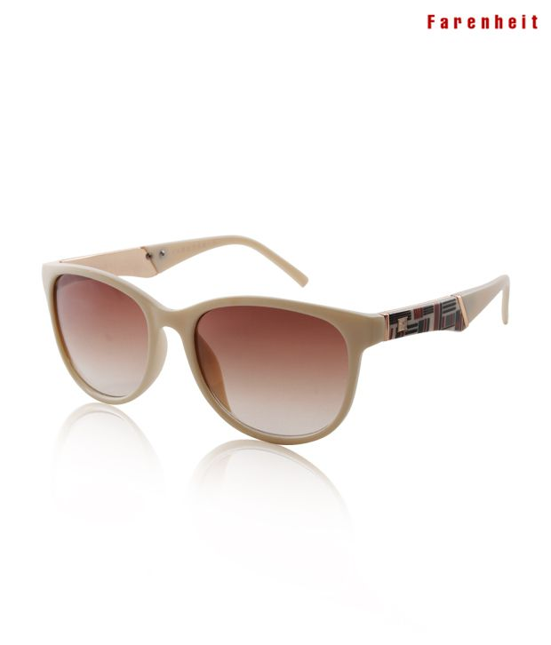 Farenheit Brown Twisted Wayfarer Sunglasses