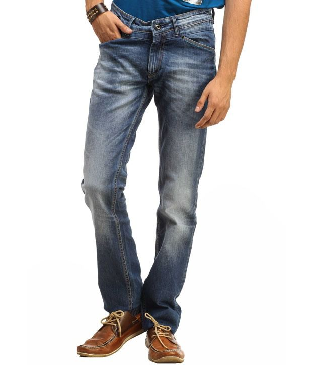 Gesture Blue Slim  Fit Jeans