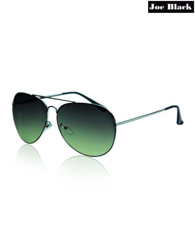 Joe Black Brown-Olive Aviator Sunglasses