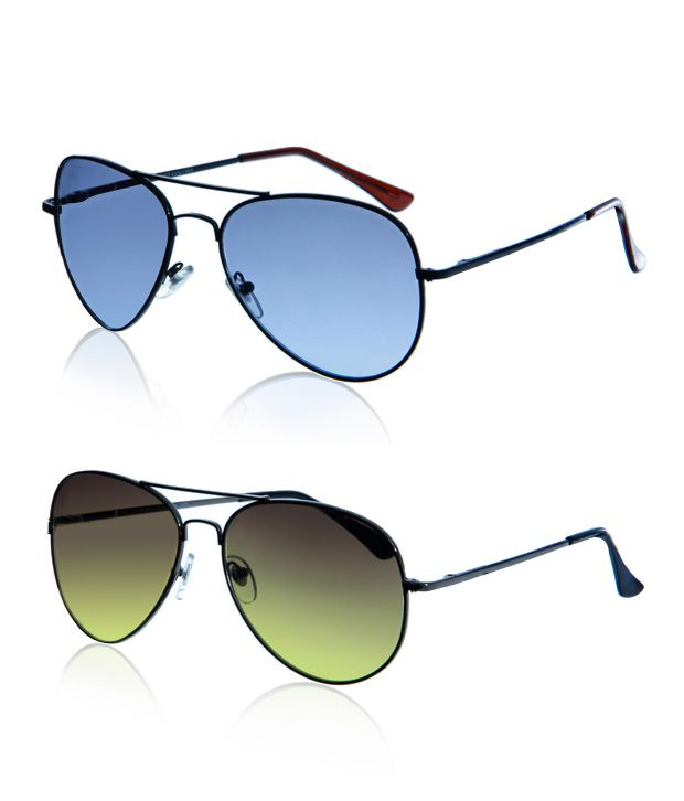 Just Colours Lovely Aviator Sunglasses - Buy 1 Get 1 Free