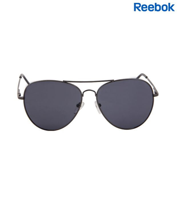 Reebok Dapper Black Aviator Sunglasses