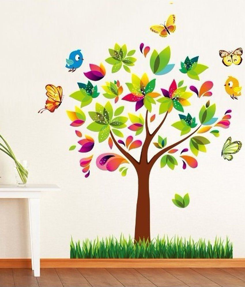 Buy SYGA 3D Colorful Tree Online