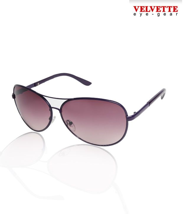 Velvette Sleek Finish Purple Aviators