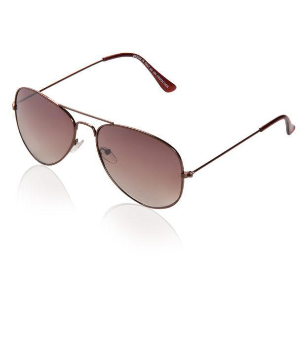 Just Colours Distinguished Brown Aviator Sunglasses