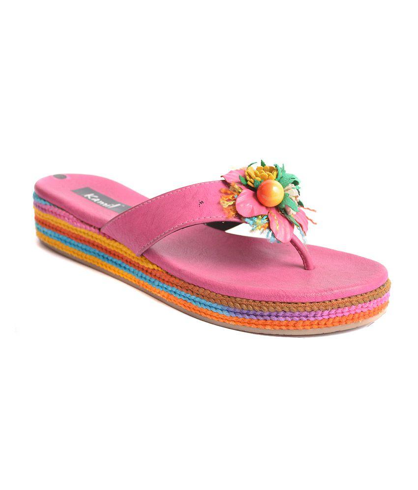 Kamil Pink Flat