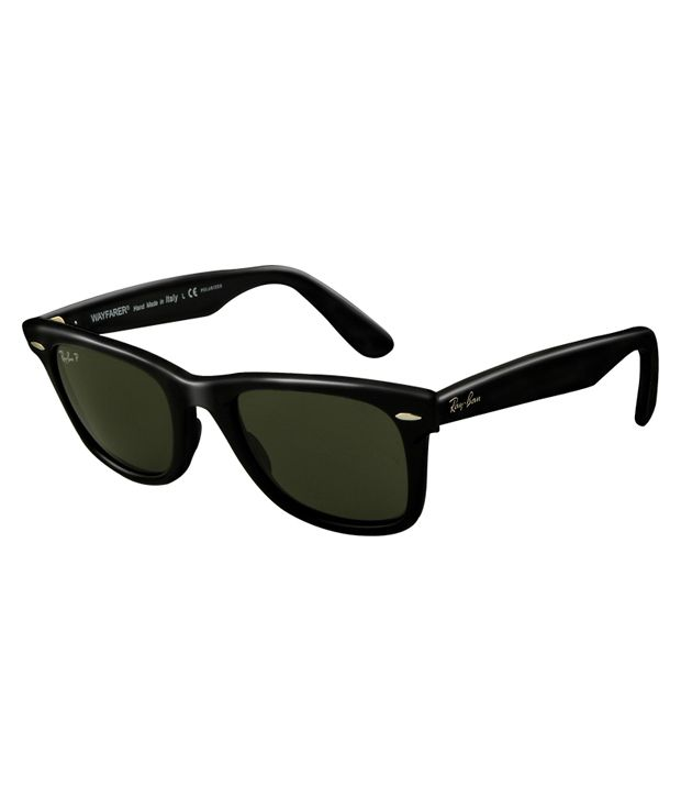 ray ban sunglasses 2140  Ray-Ban Green Polarized Wayfarer Sunglasses (RB2140 901/58 50-22 ...