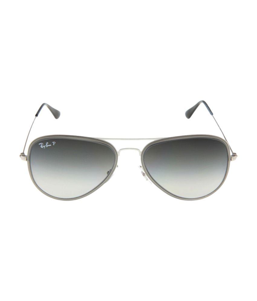 Ray-Ban RayBan RB3513M 164 T3 9990 Gray Large Women Aviator Polarized Sunglasses
