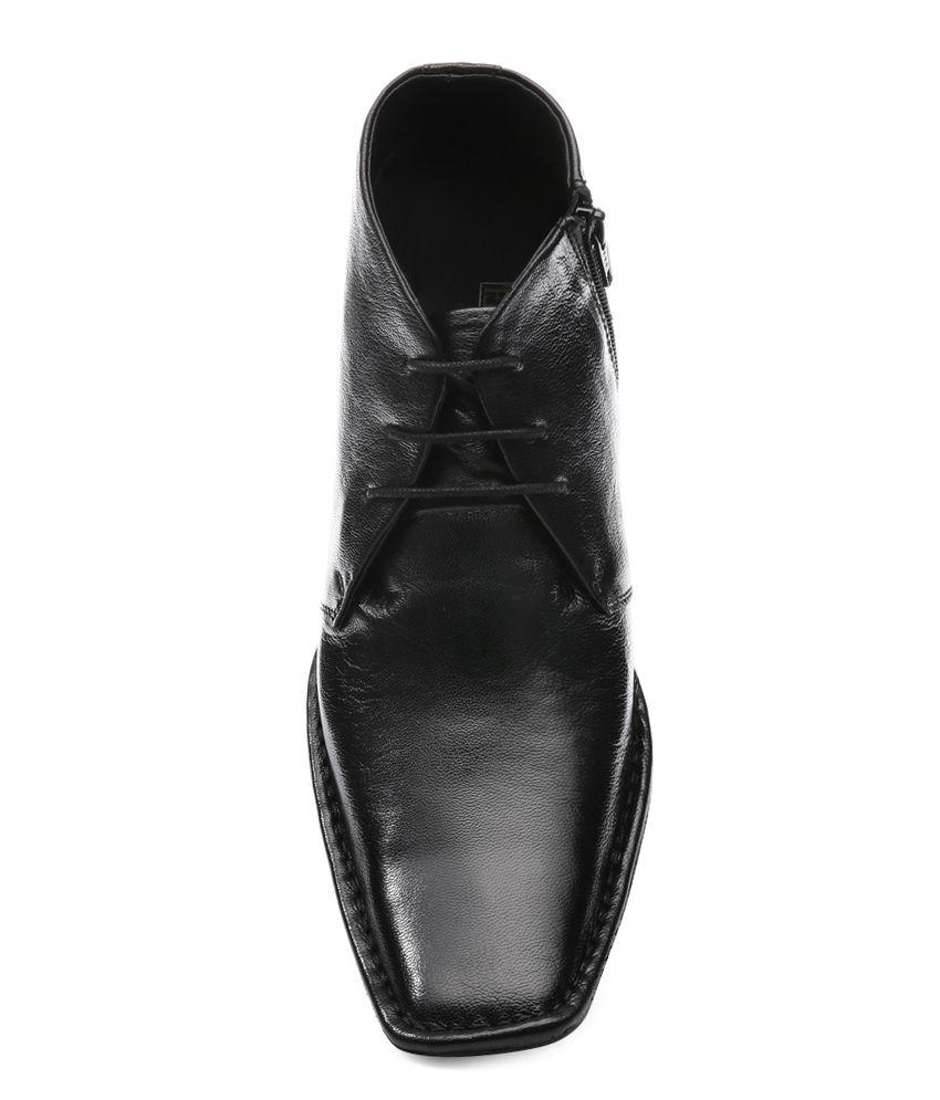 Franco Leone Black Smart Casuals Shoes